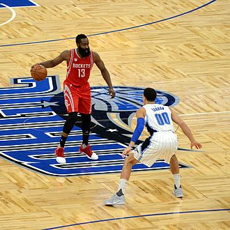 James Harden - Harden with the ball in a game against the Orlando Magic in January 2017