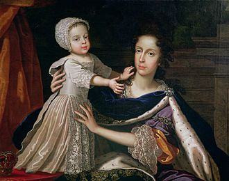 Anne, Queen of Great Britain - Mary of Modena and James Francis Edward, Anne's stepmother and half-brother
