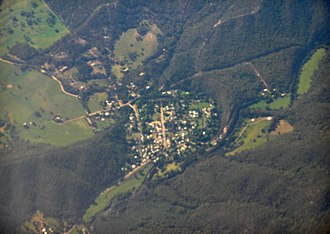 Jamieson, Victoria - Aerial photo from west