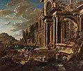Jan Baptist van der Straeten - Renaissance palace near a river with many figures.jpg