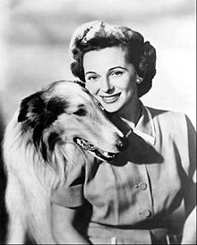 Jan Clayton and Lassie 1955.JPG