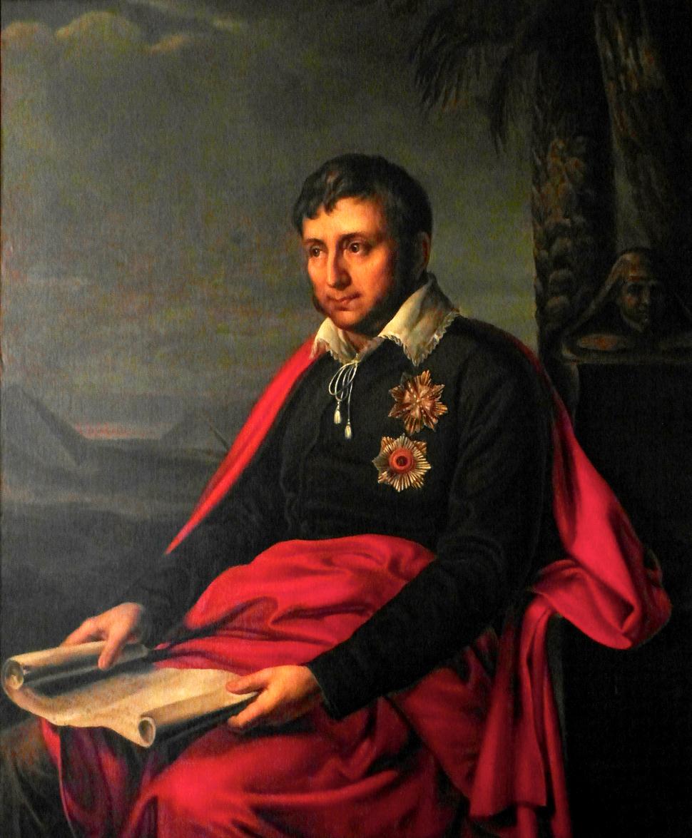 Jan Potocki na obrazie Aleksandra Warneka