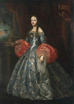 Jan van Kessel (II) or Claudio Coello (Attr.) - Portrait of Maria Anna of Neuburg.jpg