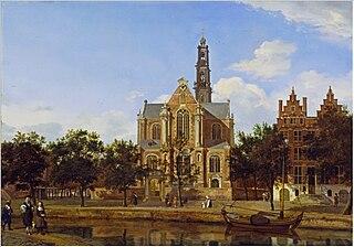 View of the Westerkerk in Amsterdam