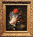 Jan van huysum, vaso di vetro con fiori, tra cui un papavaero, e un nido di fringuello, 1720-21 ca. 01.jpg
