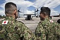 Japan Ground Self-Defense Force soldiers wait to board a U.S. Marine Corps MV-22B Osprey tiltrotor aircraft at Tacloban Air Base, Philippines, Nov. 14, 2013, during Operation Damayan 131114-M-FF989-900.jpg