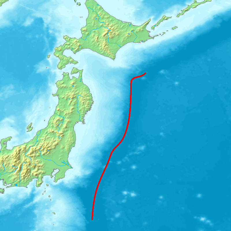 Japan trench topographic