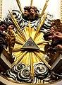 Jasna Góra, kaplica Cudownego Obrazu, fragment zwieńczenia ołtarza Narodzenia NMP.jpg