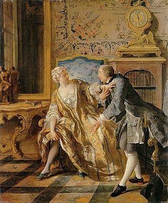 Jean François de Troy - The garter