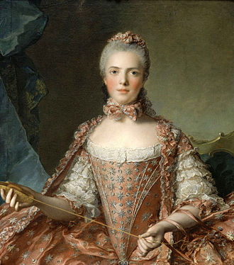 Adélaïde of France (1732–1800) - Jean-Marc Nattier, Madame Adélaïde de France faisant des nœuds (1756) - 002