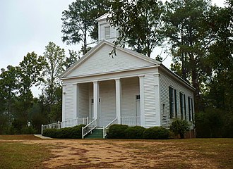 Marengo County, Alabama - Jefferson Methodist Church (built 1856) in Jefferson. On the National Register of Historic Places as part of the Jefferson Historic District.