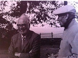 Geoffrey Jellicoe - Sir Geoffrey Jellicoe with artist Ben Nicolson