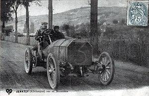 Camille Jenatzy - Jenatzy driving a Mercedes
