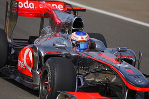 2010 British Grand Prix - Jenson Button qualified in fourteenth after struggling to find the correct balance with his car.