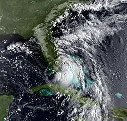 Tropical Storm Jerry on August 23; it was near landfall in Florida