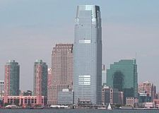 Exchange Place as seen from Lower Manhattan