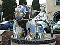 Jerusalem King David street statue of winged lion Ruslan Sergeev.jpg