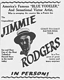 """1928 advertisement promoting Rodgers as """"America's Blue Yodeler"""""""