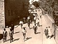 Joden pogrom in Palestina na Mohamm. Godsdienstoefening in Grote Moskee van Jeruzalem, augustus 1929 (SFA001006558).jpg
