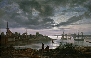 Johan Christian Dahl - Larvik by Moonlight - Google Art Project.jpg