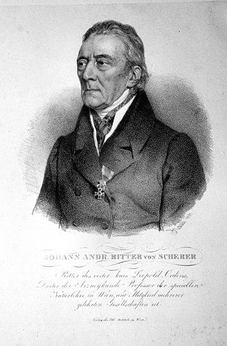 Johann Andreas Scherer - Johann Andreas Scherer (1831)