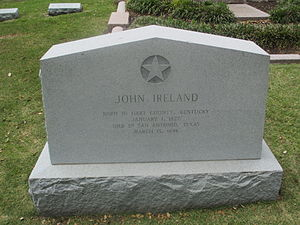 John Ireland (politician) - Ireland's grave at the Texas State Cemetery in Austin
