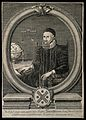 John Napier, seated, wearing a skull cap, his right hand res Wellcome V0004218.jpg