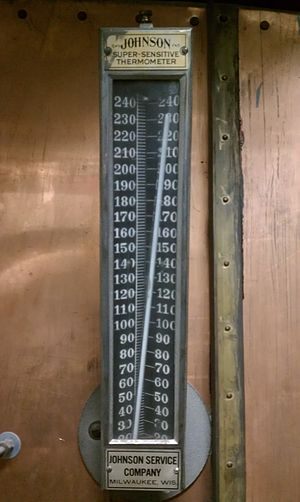 Johnson Controls - A Johnson Super-Sensitive Thermometer on an air conditioning unit