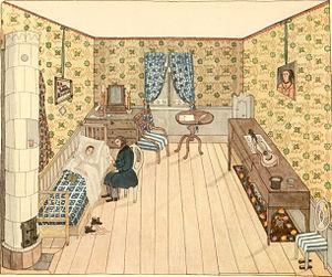 1853 in Sweden - Josabeth Sjöberg-akvarell