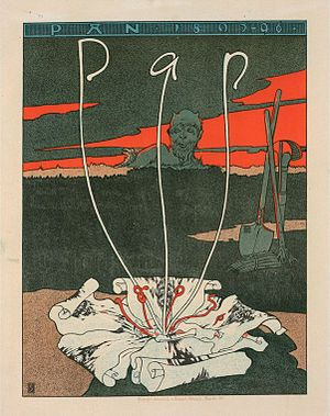 August Endell - Cover by Joseph Sattler for 1895/96 issue of Pan