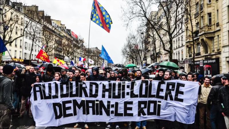 """File:Jour de colere 26 janvier 2014 """"Aujourd'hui colere demain le Roi"""".png"""