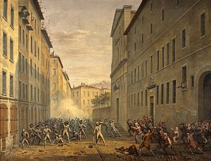 1788 in France - Day of the Tiles, 7 june 1788, by Alexandre Debelle, (Musée de la Révolution française)