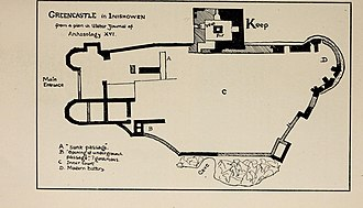 Greencastle, County Donegal - Plan of the castle