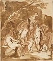 Judgment of Paris by Hans Rottenhammer, red chalk, brush and washes.jpg
