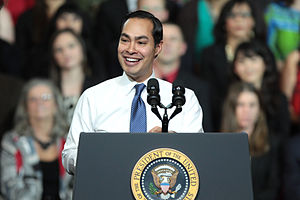 Julian Castro - Secretary Castro introducing President Obama at an event on the recovering housing sector in Phoenix, Arizona in January 2015.
