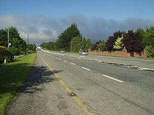 R445 road (Ireland) - The R445 when it was still the N7 in 2003, just east of Junction 15 looking west