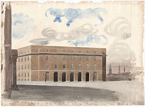 Copenhagen Police Headquarters - Drawing of the building by Hack Kampmann