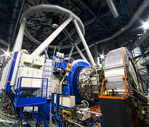 K-band multi-object spectrograph - Image: KMOS on the Very Large Telescope at the time of first light