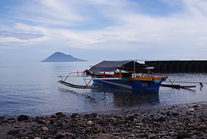 Celebes Sea - Southern border of Celebes Sea. Kalasey Beach in Bunaken Island, North Sulawesi