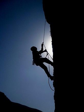 Rock climbing - A rock climber