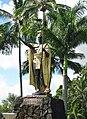 Kamehameha statue Wailoa River, Hilo.jpg