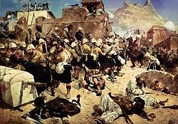 92nd Highlanders at Kandahar di Richard Caton Woodville