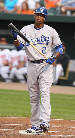 Kansas City Royals shortstop Alcides Escobar.jpg