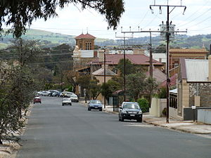 Kapunda - Looking towards the Baptist church