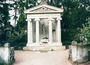 Karl May - Tomb of Karl and Klara May.