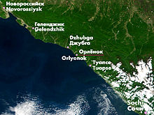 Orlyonok location on the Black Sea coast