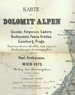 Paul Grohmann - Grohmann's map of 1875