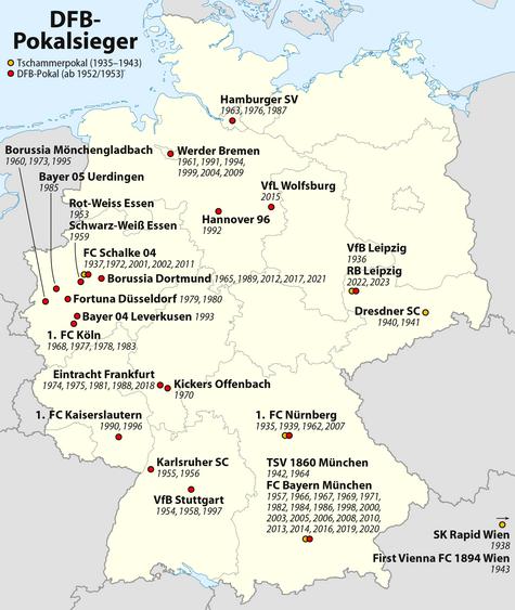 Wm 2018 Spielorte Karte.Dfb Pokal Wikipedia