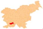 La loko de la Municipo de Pivka