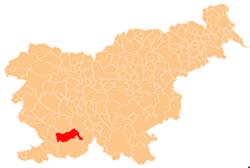Loko de la Municipo de Pivka en Slovenio